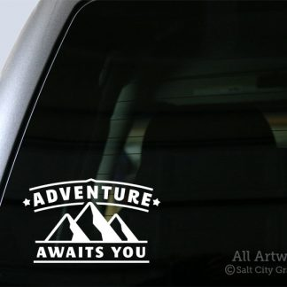 Adventure Awaits You Decal in White