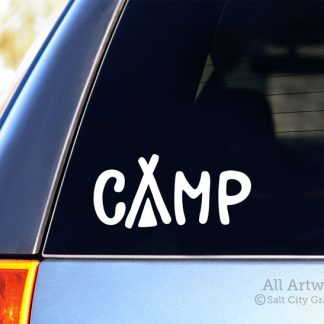 Camp Decal (Tent) in White
