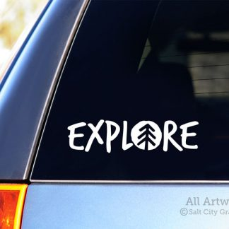 Explore Decal in White