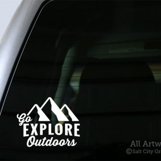 Go Explore Outdoors Decal in White