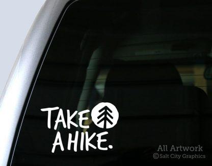 Take A Hike Decal in White