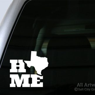 Home Texas Decal in White
