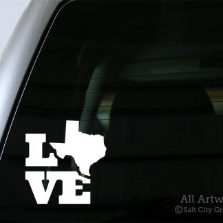 Love Texas Decal in White