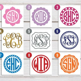 Custom Design Monogram Decals (#1)