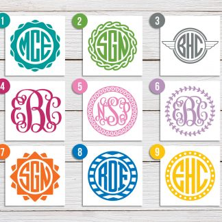 Custom Monogram Decal - 9 designs available (#2)