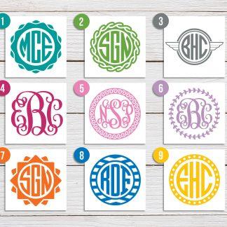 Custom Monogram Decal - 9 designs available (#2)