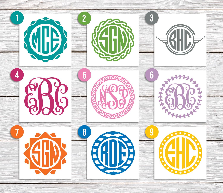 Custom Design Monogram Decal by Salt City Graphics