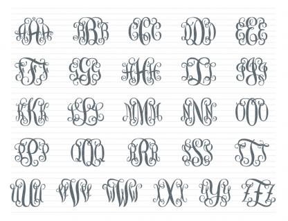 Preview of Script Font (Alphabet)